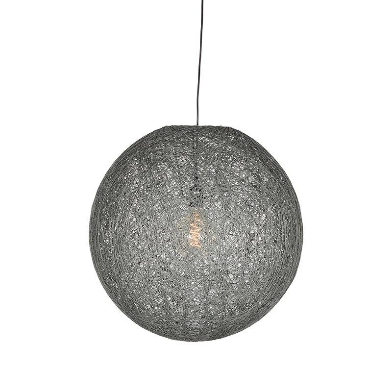 Hanglamp Twist - Grijs - Vlas - L