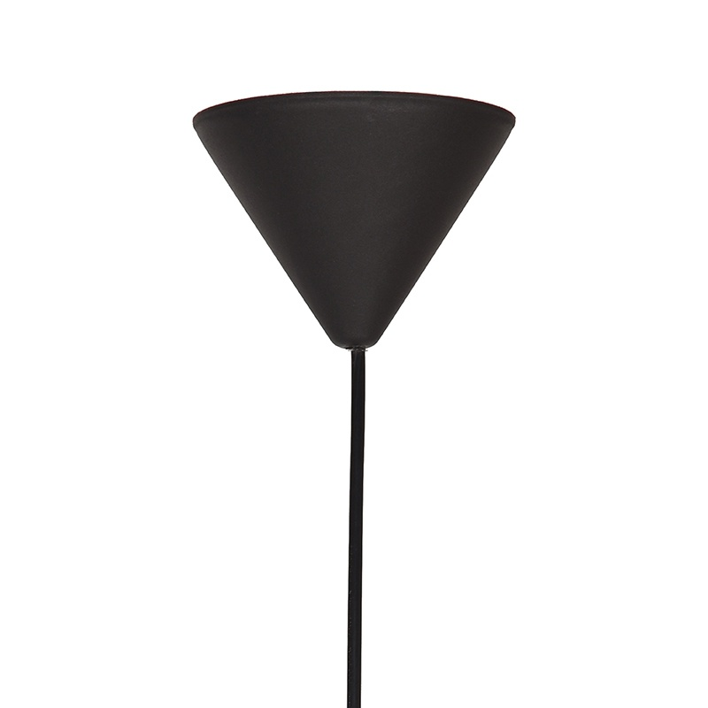 Hanglamp Twist - Zwart - Vlas - M