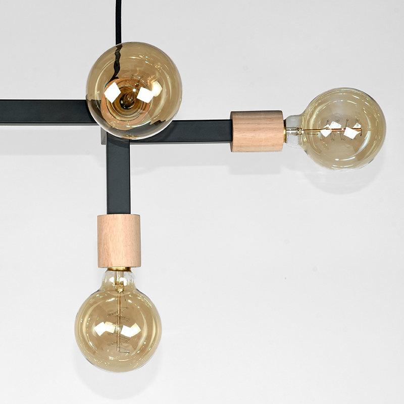 Hanglamp Loco - Zwart - Metaal