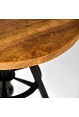 Bijzettafel Solid - Rough - Mangohout - Rond - 45 cm