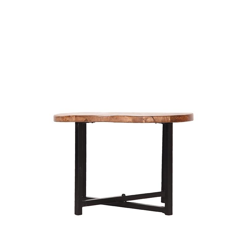 Bijzettafel Dex - Rough - Mangohout - Rond - 60 cm