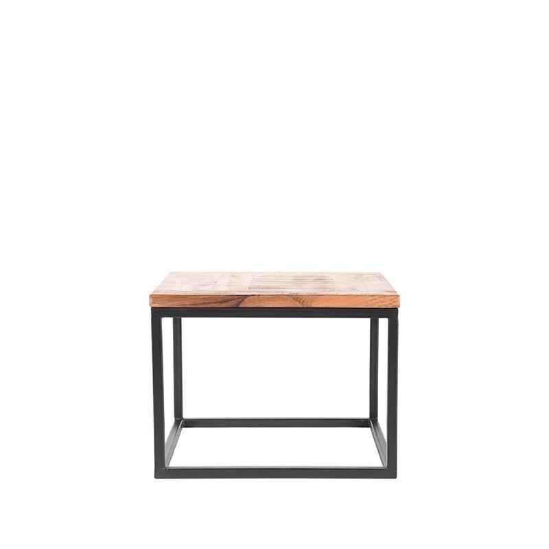Bijzettafel Box - Rough - Mangohout - 60x60 cm