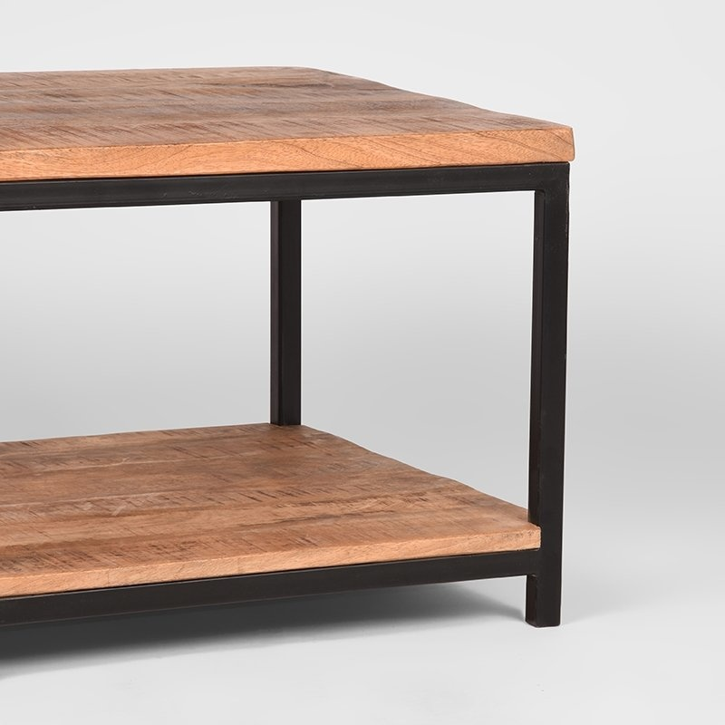 Bijzettafel Vintage - Rough - Mangohout - 60x60 cm