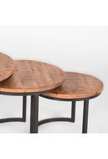 Salontafel Set Triplet - Rough - Mangohout