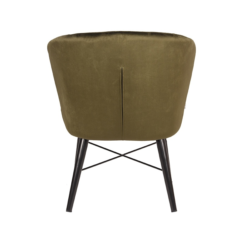 Fauteuil Wave - Army green - Fluweel
