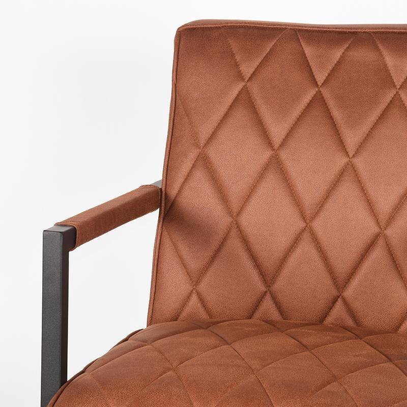 Fauteuil Denmark - Cognac - Microfiber