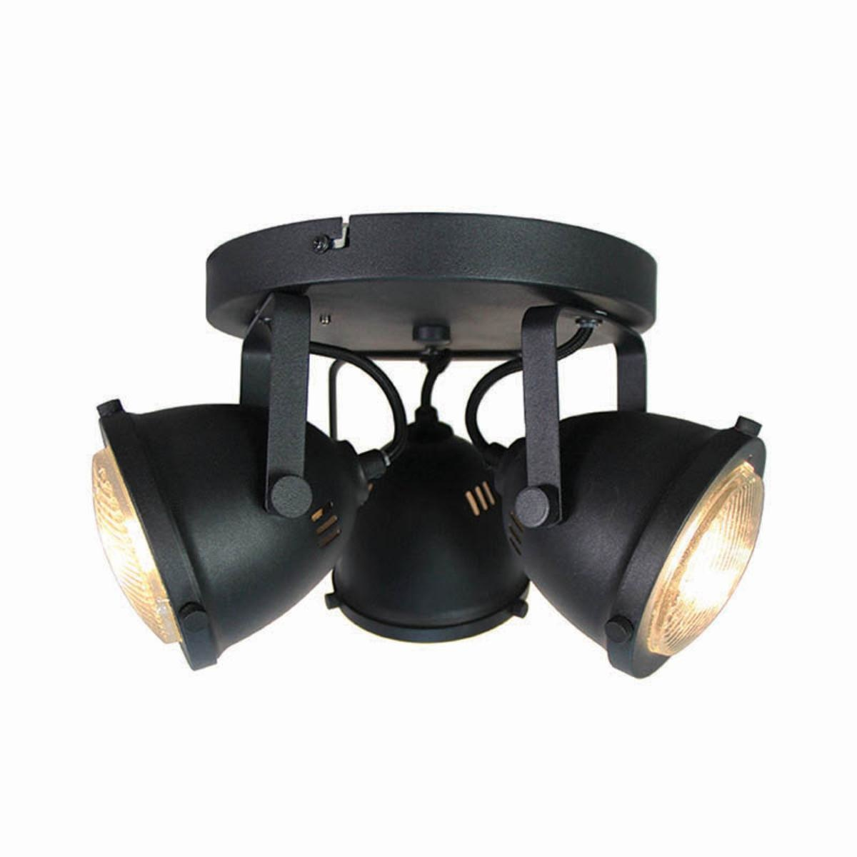 Spot Moto led - Zwart - Metaal - 3 Lichts
