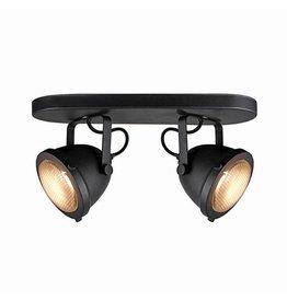 Spot Moto led - Zwart - Metaal - 2 Lichts