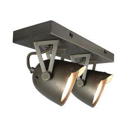 Spot Cap led - Grijs - Metaal - 2 Lichts