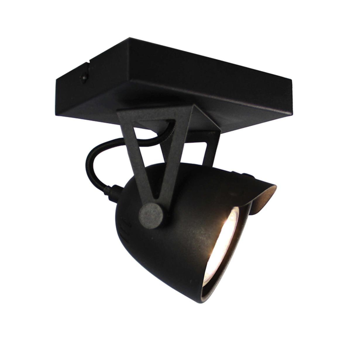 Spot Cap led - Zwart - Metaal - 1 Lichts