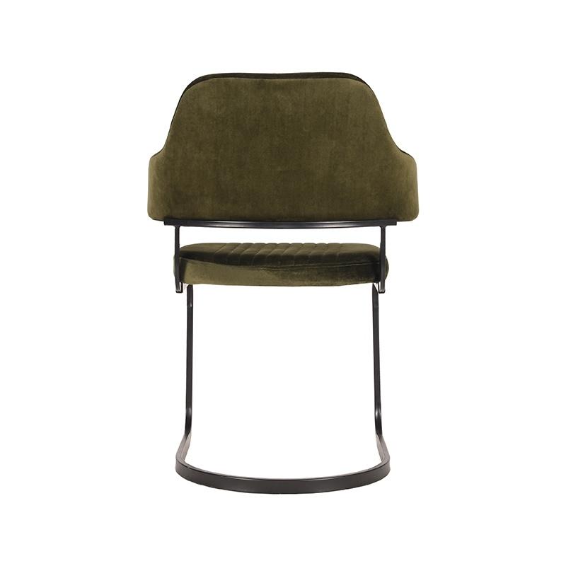 Eetkamerstoel Otta - Army green - Fluweel