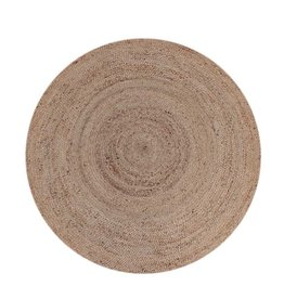 Vloerkleed Jute - Naturel - Jute - 150x150 cm
