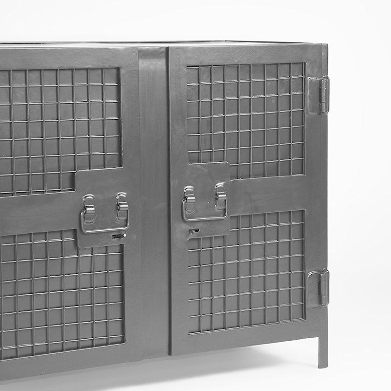 Boekkast Gate - Zwart - Metaal - 2 Deurs