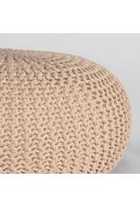 Poef Knitted - Naturel - Katoen - L