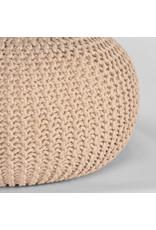 Poef Knitted - Naturel - Katoen - M
