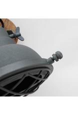 Wandlamp Grid - Antiek grijs - Metaal