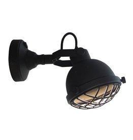 Wandlamp Cas - Zwart - Metaal - M