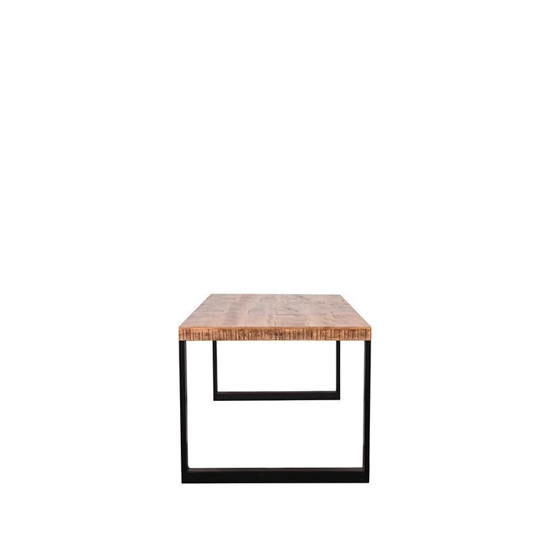 Eetkamertafel Glasgow - Rough - Mangohout - 200x90 cm