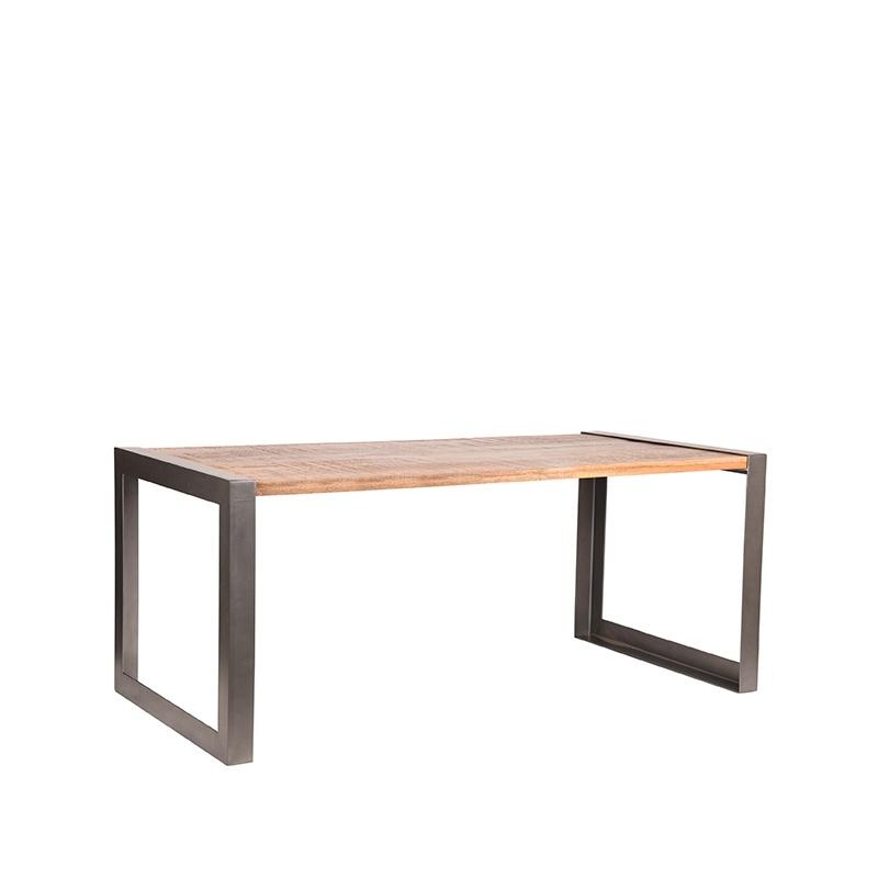Eetkamertafel Factory - Rough - Mangohout - 200x90 cm