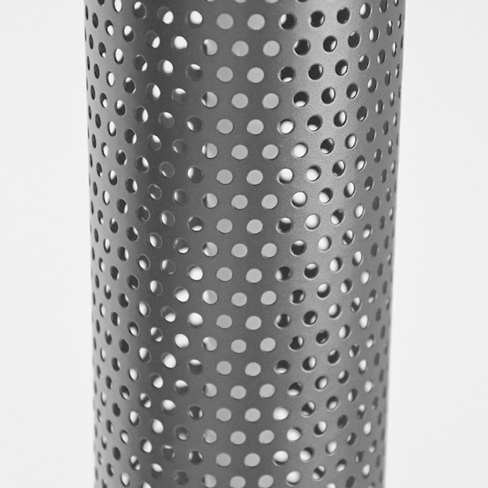 Vloerlamp Tube - Zwart - Metaal
