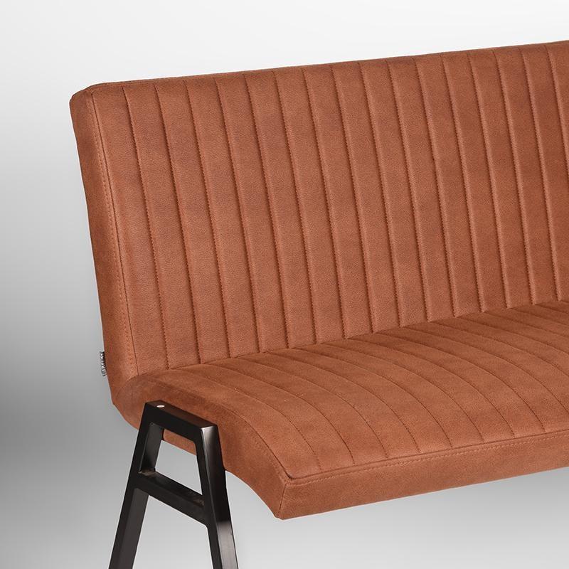Eetkamerbank Matz - Cognac - Microfiber - 145 cm
