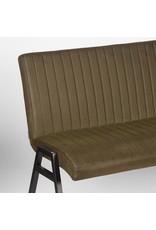 Eetkamerbank Matz - Army green - Microfiber - 145 cm
