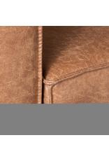 Hoekbank Arezzo - Cognac - Microfiber - 2-Zits + Hoek + 2-Zits