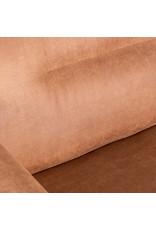 Bank Napoli 2,5-Zits + Ottomane - Cognac - Microfiber