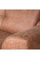 Bank Salerno - Cognac - Microfiber - 3-Zits