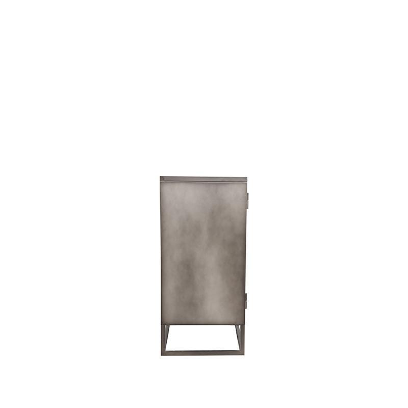 Vitrinekast Level - Grijs - Metaal - 85x40x85 cm