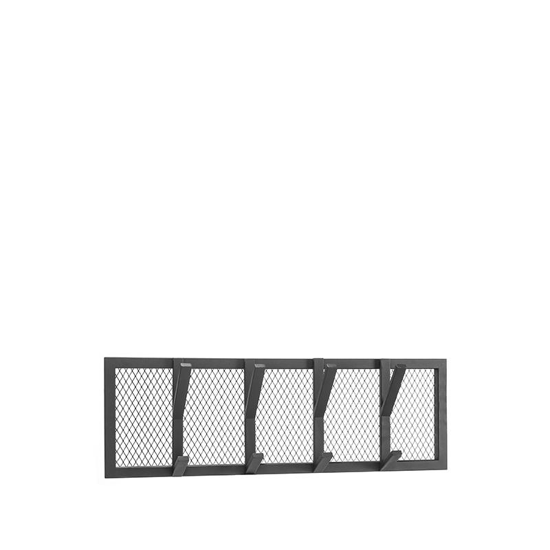 Kapstok Gruff - Zwart - Metaal - M