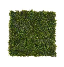 Kunstplant Wandpaneel 80x10x80 cm - Groen - Kunststof