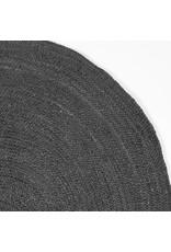 Vloerkleed Jute 150x150 cm I XL - Antraciet - Jute