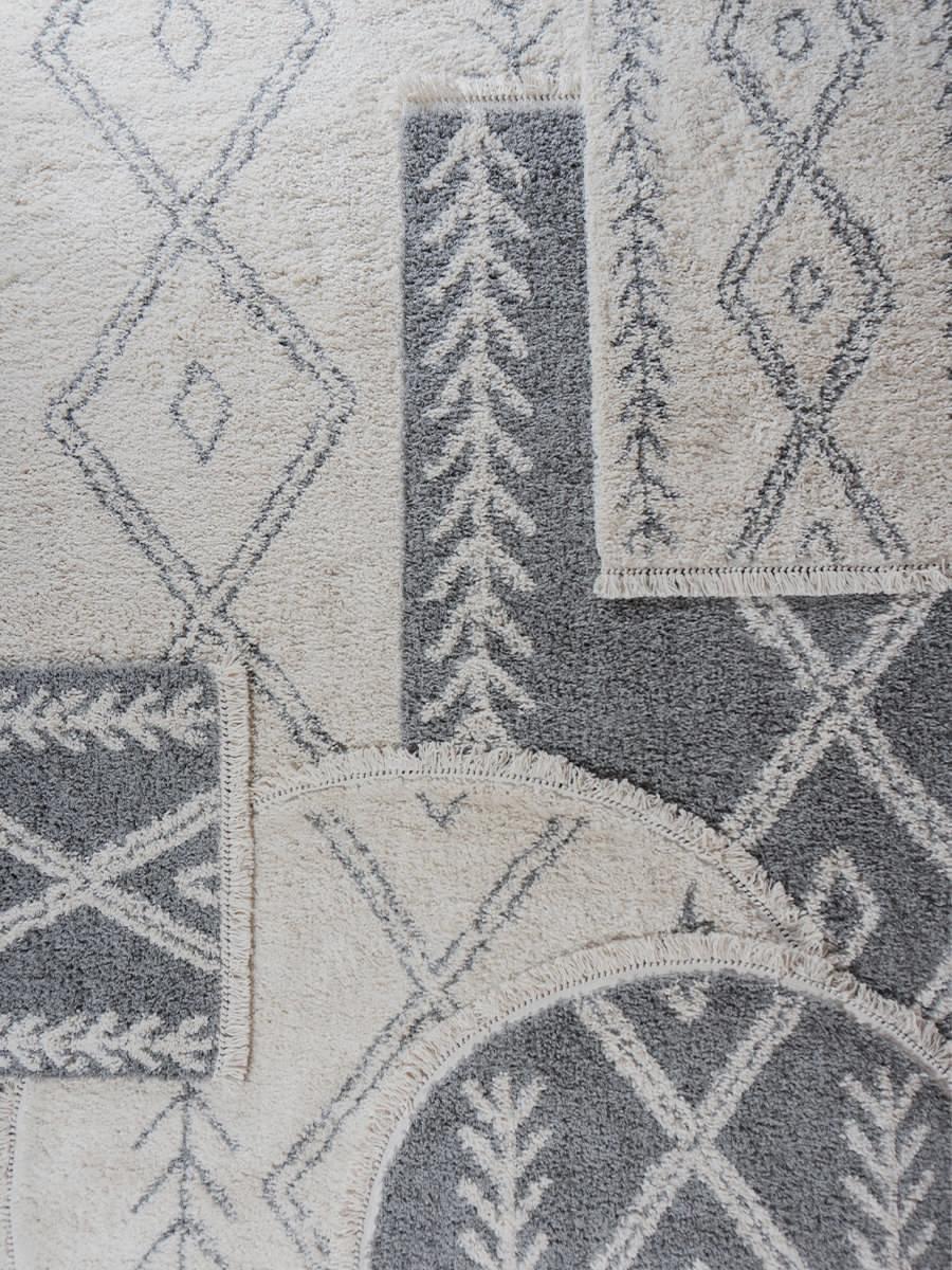 Vloerkleed Rabat Grey - 240 x 340 cm