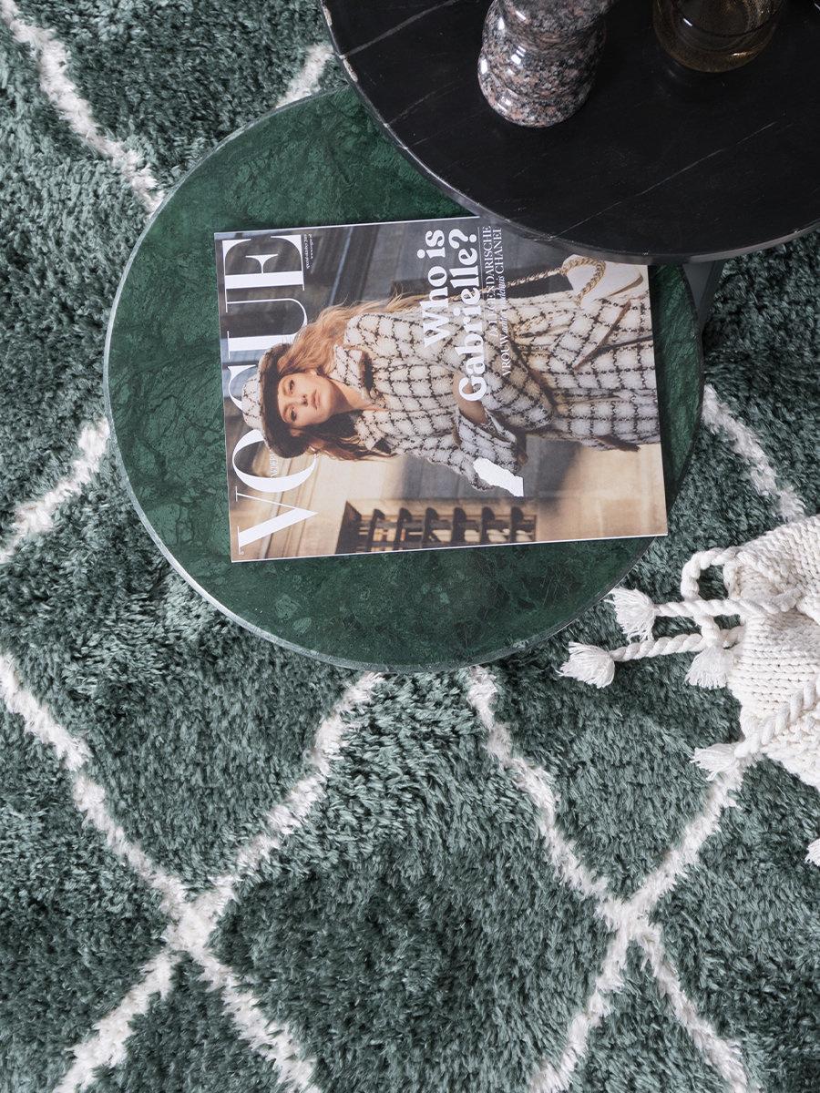 Vloerkleed Jeffie Green - 200 x 290 cm