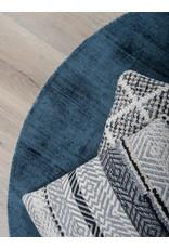 Karpet Viscose Rond Dark Blue - Ø 150 cm
