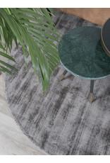Karpet Viscose Rond Dark Grey - Ø 200 cm