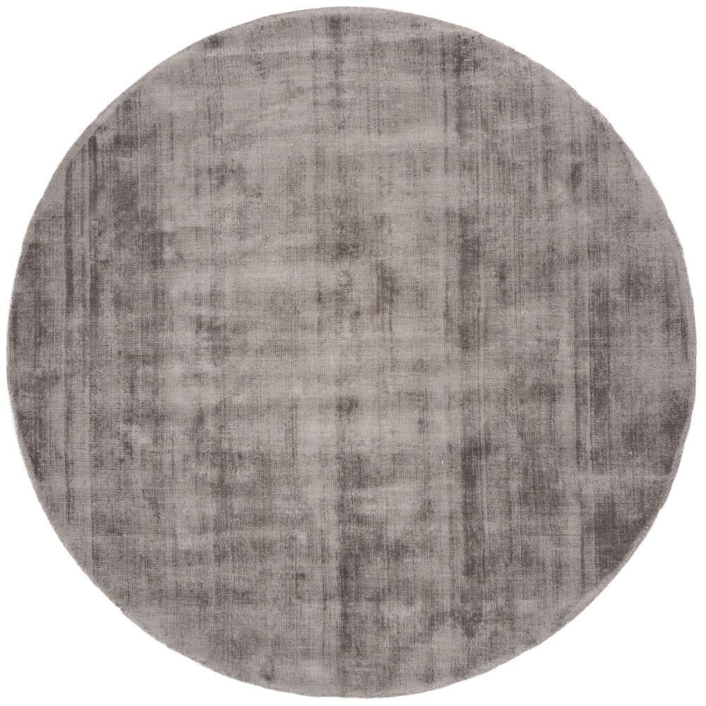 Karpet Viscose Rond Dark Grey - Ø 150 cm