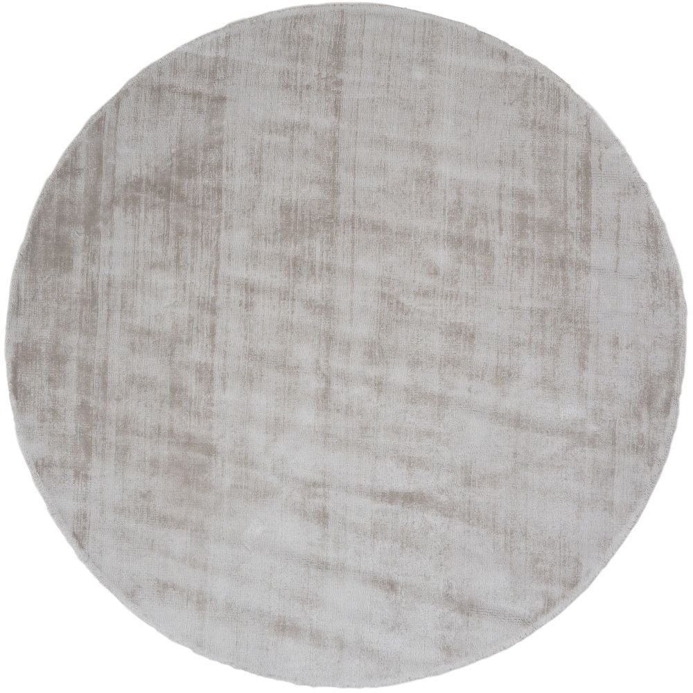 Karpet Viscose Rond Light Grey - Ø 200 cm