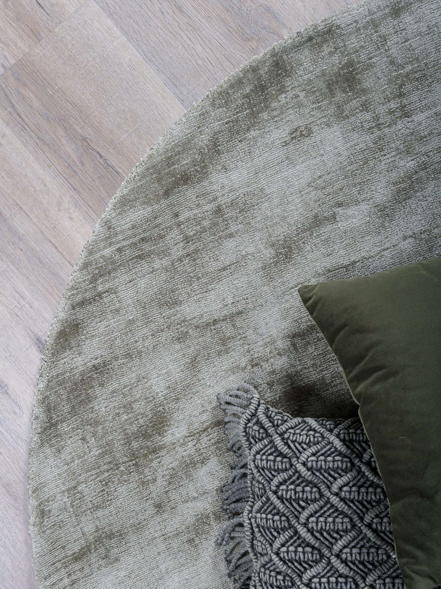 Karpet Viscose Rond Green - Ø 200 cm