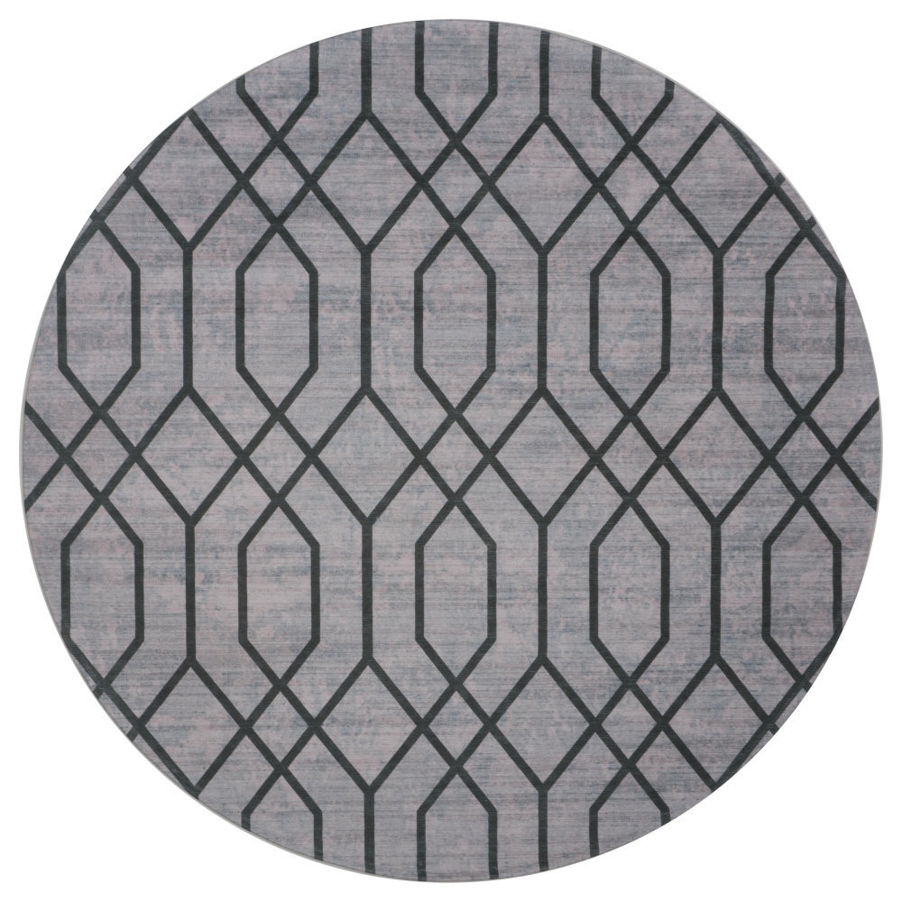 Vloerkleed Pattern Rond Groen - Ø 120 cm