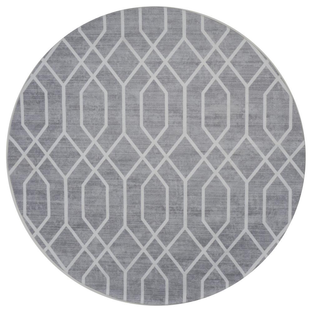 Vloerkleed Pattern Rond Grijs - Ø 120 cm