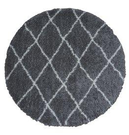 Vloerkleed Jeffie Grey - Rond Ø 160 cm
