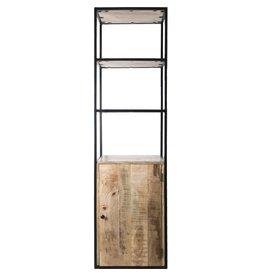 Vakkenkast Cil - 200 x 55 cm - Met deurtje