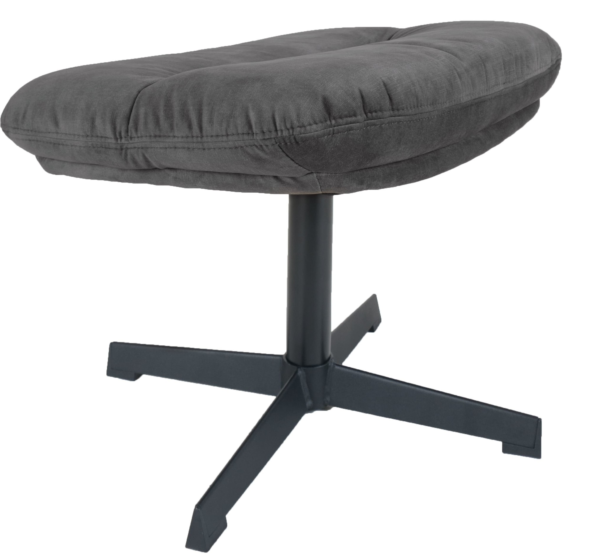 Hocker Dorus Adore Velvet - Dark Grey