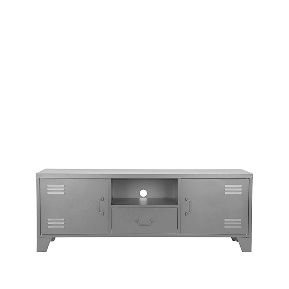 Tv-meubel Fence - Zwart - Metaal
