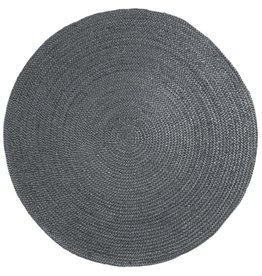 Vloerkleed Jute Rond Grey - Ø 120 cm