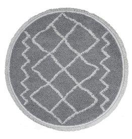 Vloerkleed Marrakesh Grey - Rond Ø 80 cm