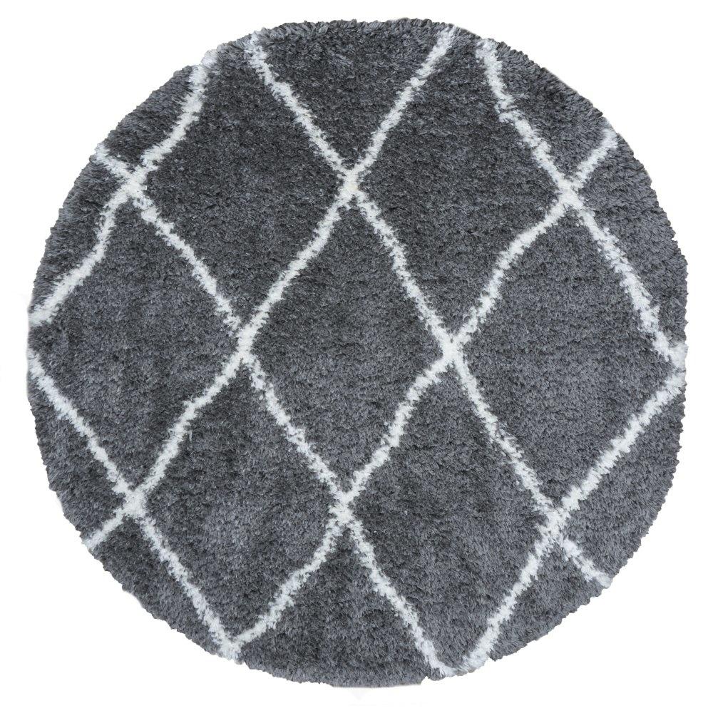 Vloerkleed Jeffie Grey - Rond Ø 80 cm