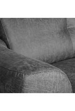 Hoekbank Salerno - Antraciet - Microfiber - Chaise Longue + 2,5-Zits
